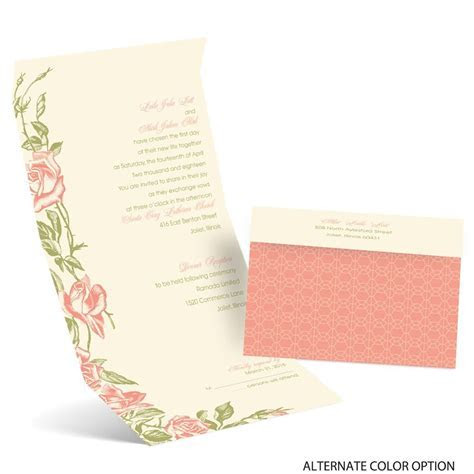 Rose Impression Seal and Send Invitation   Ann's Bridal