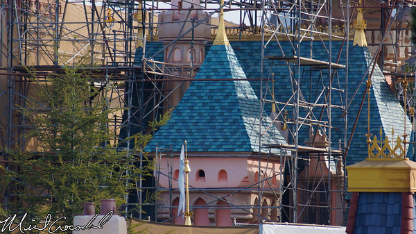 Disneyland Resort, Disneyland, Sleeping, Beauty, Castle, Refurbishment, Refurb, Refurbish, Disneyland60, Diamond, Concept, Art, Canvas, Tarp