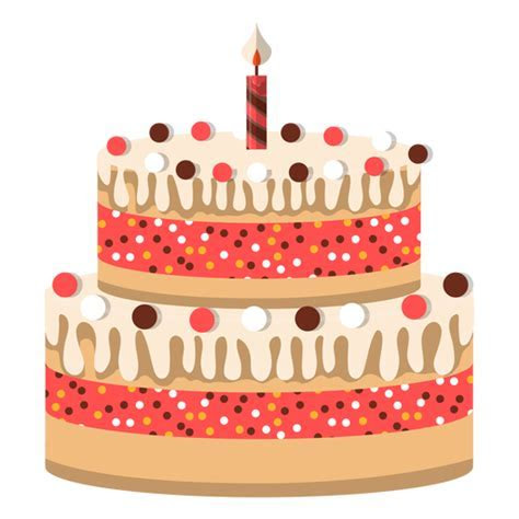Two floors birthday cake icon   Transparent PNG & SVG vector