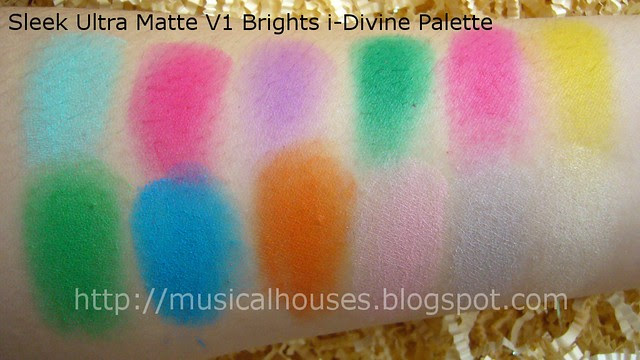 sleek ultra matte brights palette swatches
