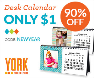 Custom Photo Desk Calendar  - Only $1 – Save $8.99!