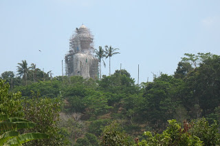 View of the Big Buddha from the restaurant