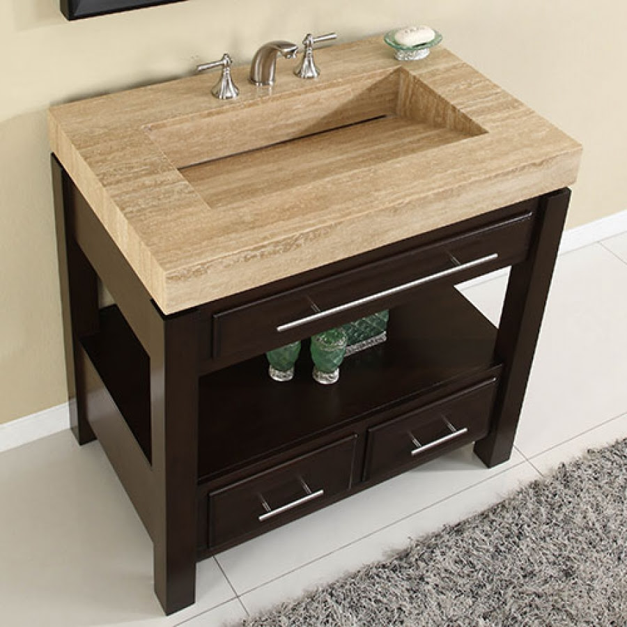 36 Inch Single Sink Cabinet with Espresso Finish and ...