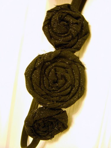 Sparkly Fabric Flower Headband 2