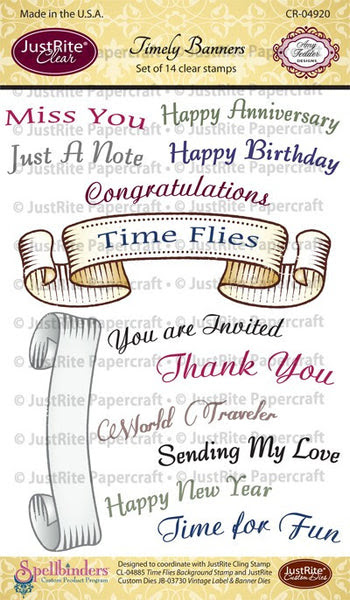 Timely Banners Clear Stamps