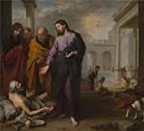 The Perfect effect Canvas of oil painting 'Bartolome Esteban Murillo - Christ healing the Paralytic at the Pool of Bethesda,1667-70' ,size: 20x22 inch / 51x56 cm ,this Amazing Art Decorative Canvas Prints is fit for Home Office gallery art and Home artwork and Gifts
