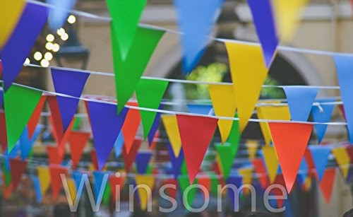 10-Metre PVC Double-Sided Bunting 20 Flags