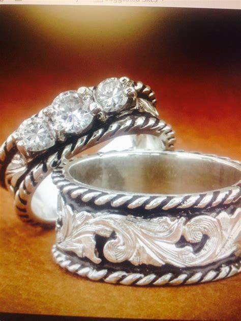 western wedding ring sets   Western wedding set Fanning