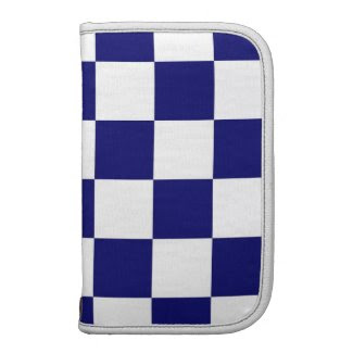 Checkered Navy and White Folio Planners
