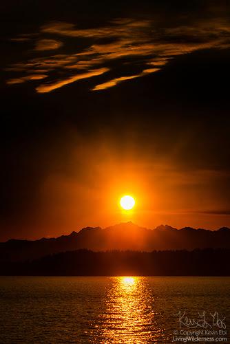 Sunset Over Olympic Mountains, Washington