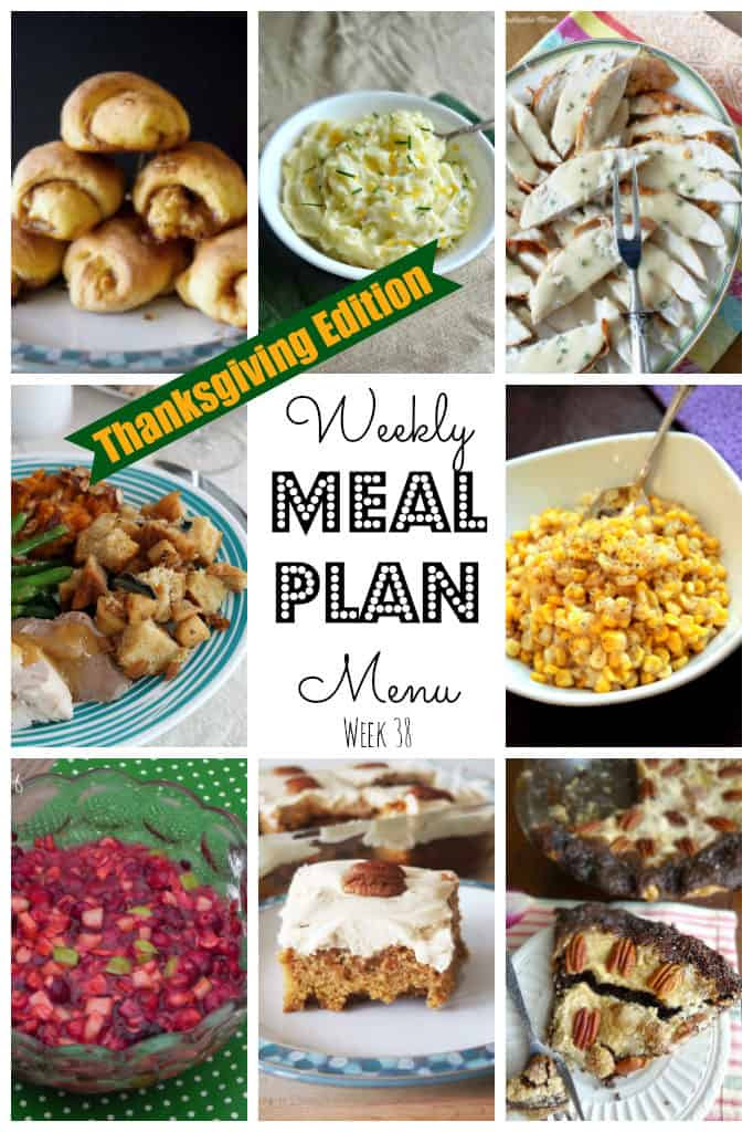 Weekly Meal Plan #38 Thanksgiving-main