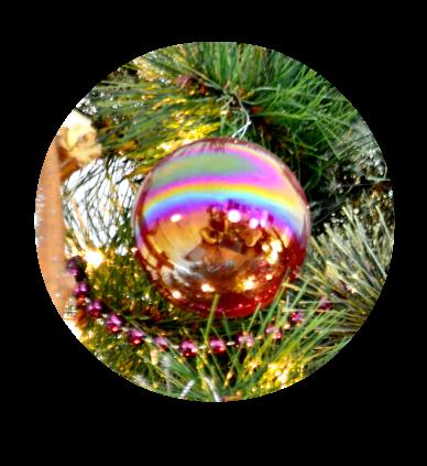 vintage swirl ornament