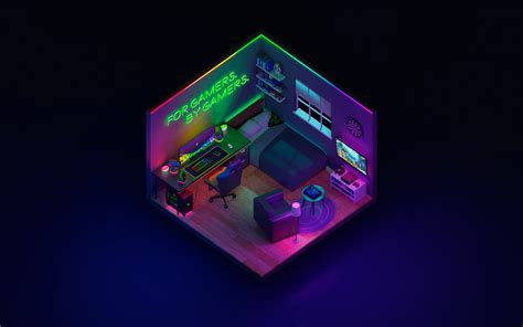 wallpaper  technology razer room background hd image