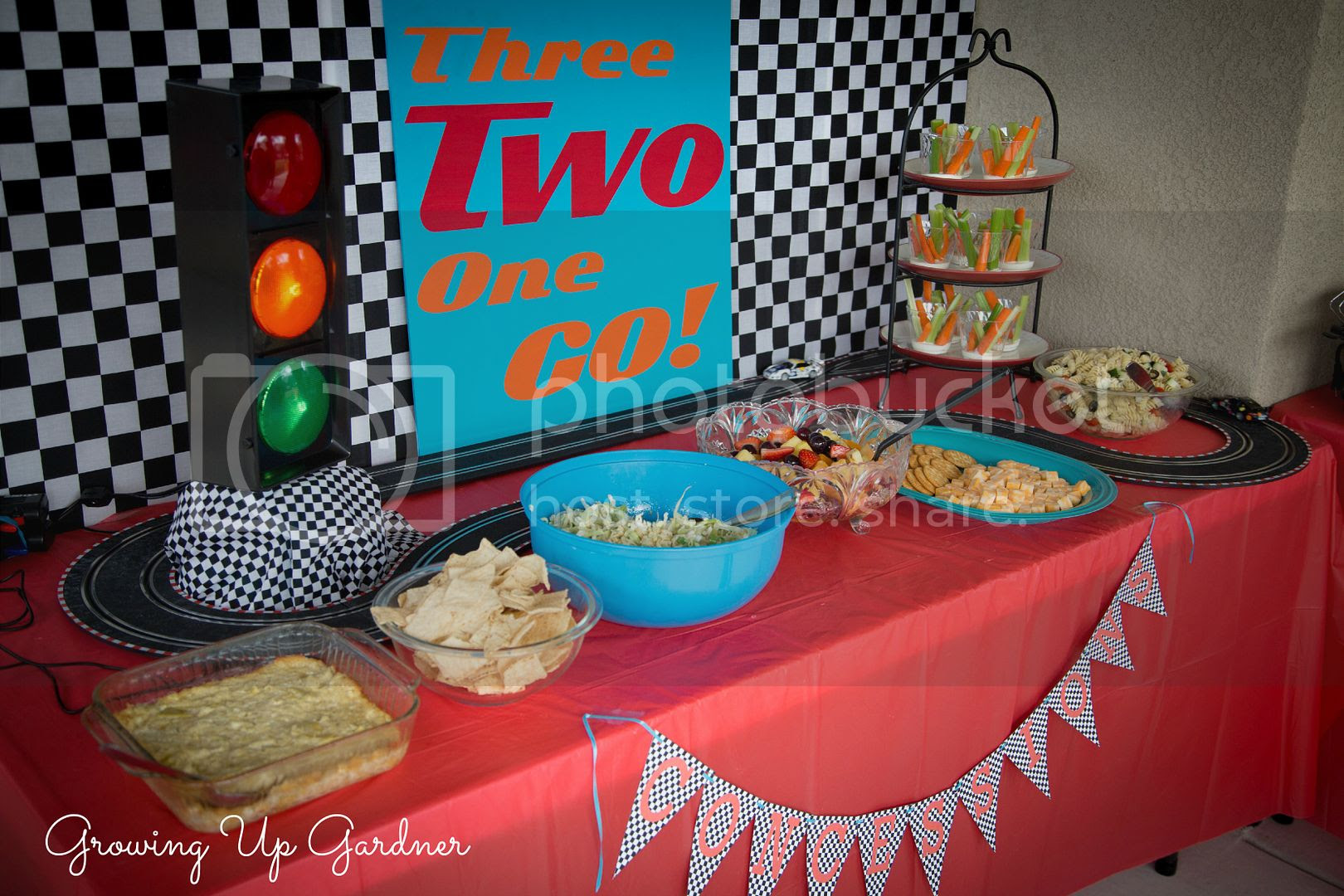 Growing Up Gardner Colorful Race Car Birthday Party Noah Is Two