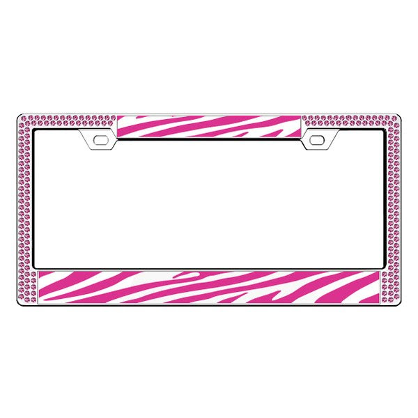 License 2 Bling® - Graphic Series Zebra Print Frame