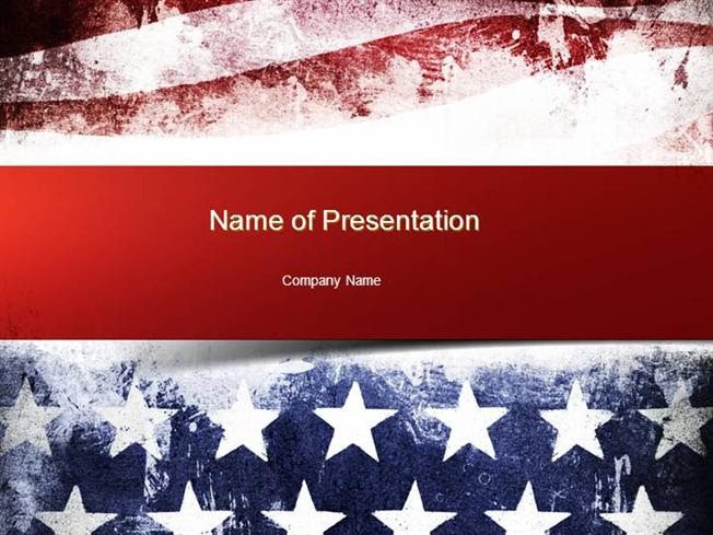 Painted American Flag Powerpoint Template Authorstream
