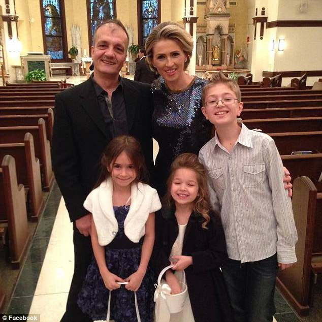Pete says his family (Cile & Pete with their three American born children, pictured) was unable to say goodbye to Cile before she was deported as he says they were not notified she was being removed