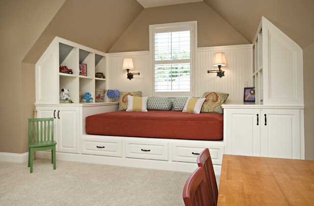 Bonus Room / Guest Room - traditional - kids - raleigh - by Driggs ...