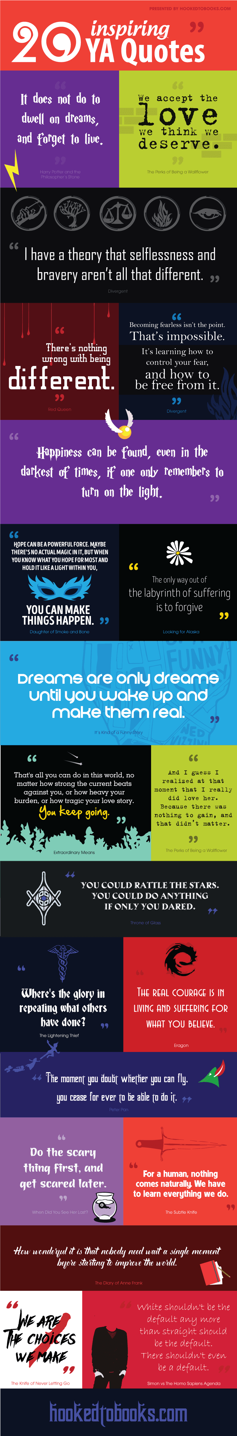Infographic 20 Inspiring Quotes From Young Adult Books Hooked To