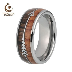 8mm Mens Tungsten Carbide Rings Womens Wedding Bands Koa