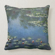 Water Lilies (1906) by Claude Monet throwpillow