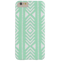 Cool Mint Green Tribal Pattern Barely There iPhone 6 Plus Case