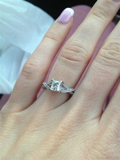 My Tacori Princess cut engagement ring   Wedding 10.17