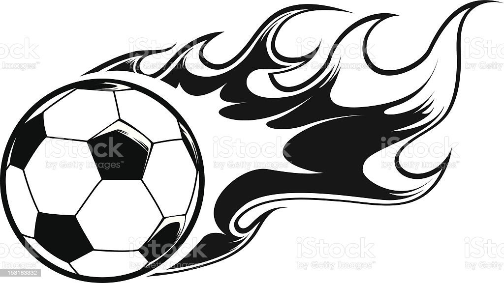 Br\u00fbler Ballon De Football Stock Vecteur Libres de Droits 153183332  iStock