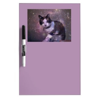 snowshoe kitty in the stars Dry-Erase board