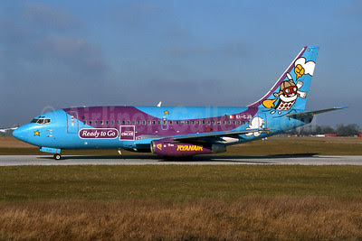 Ryanair Boeing 737-204 EI-CJD (msn 22966) (Eircell) STN (Antony J. Best). Image: 911752.