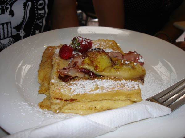 Cafe Sophia - French toast, bacon, banana