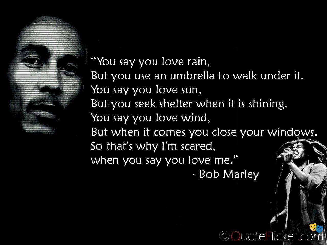 Bob Marley Quotes Wallpapers  Wallpaper Cave