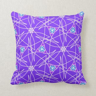 Throw Pillow with Purple Design