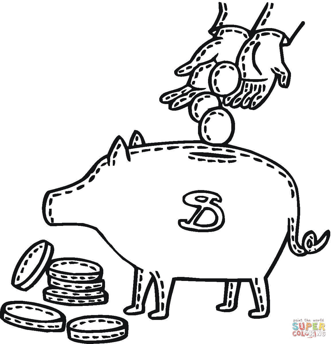 10 Free Printable Piggy Bank Coloring Pages | Top Free ...