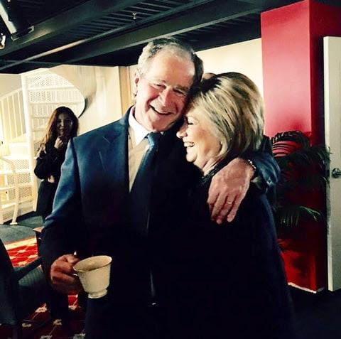 George W. Bush and Hillary Clinton