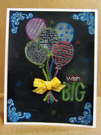 Chalkboard birthday wish