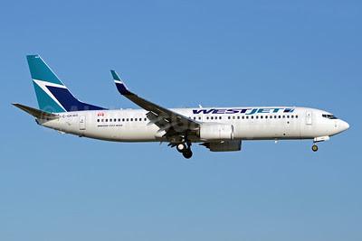 WestJet Airlines Boeing 737-8CT WL C-GKWA (msn 39089) YYZ (TMK Photography). Image: 912737.