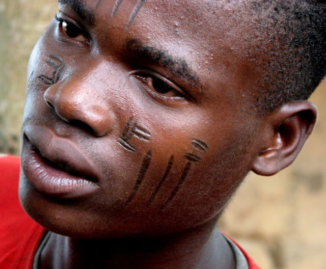 Facial scarring in fulani tribe with you