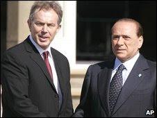 Blair and Berlusconi