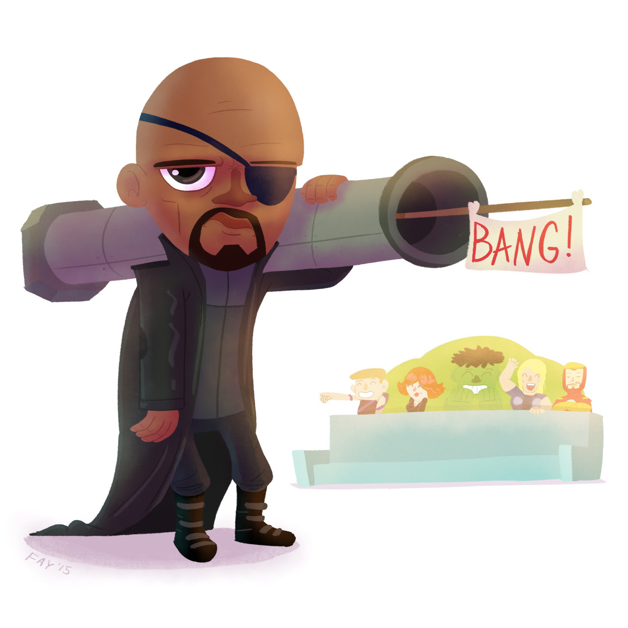 Nick Fury by Adam Fay