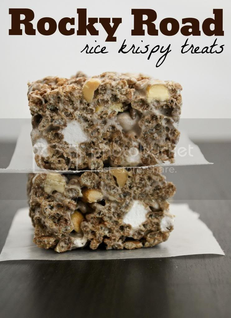 Mallow and Co: Rocky Road Rice Krispy Treats