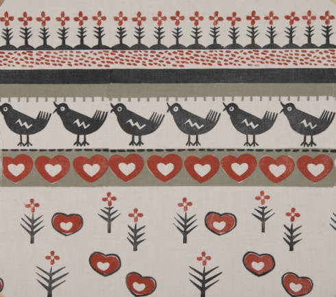 <i>Motif, Blockprinted Textile, 1935-1936</i>