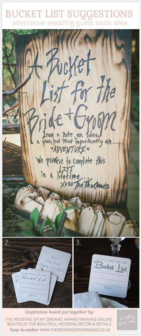 suggestions for our bucket list cards   The Wedding of My