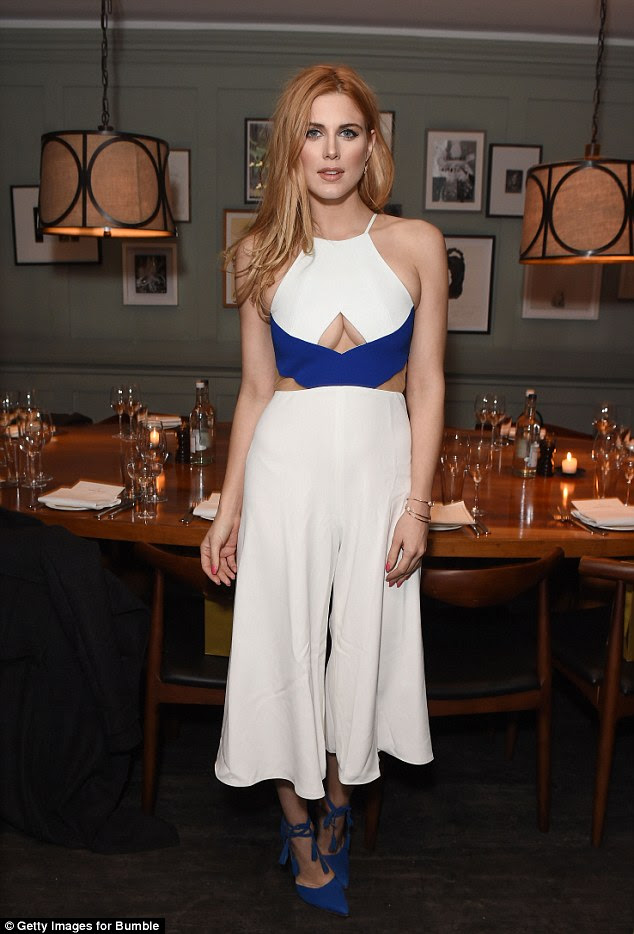 Back on the scene: Reality starAshley James looked single and ready to mingle as she attended a dating app dinner in London on Thursday night