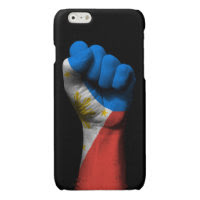 Raised Clenched Fist with Filipino Flag Glossy iPhone 6 Case