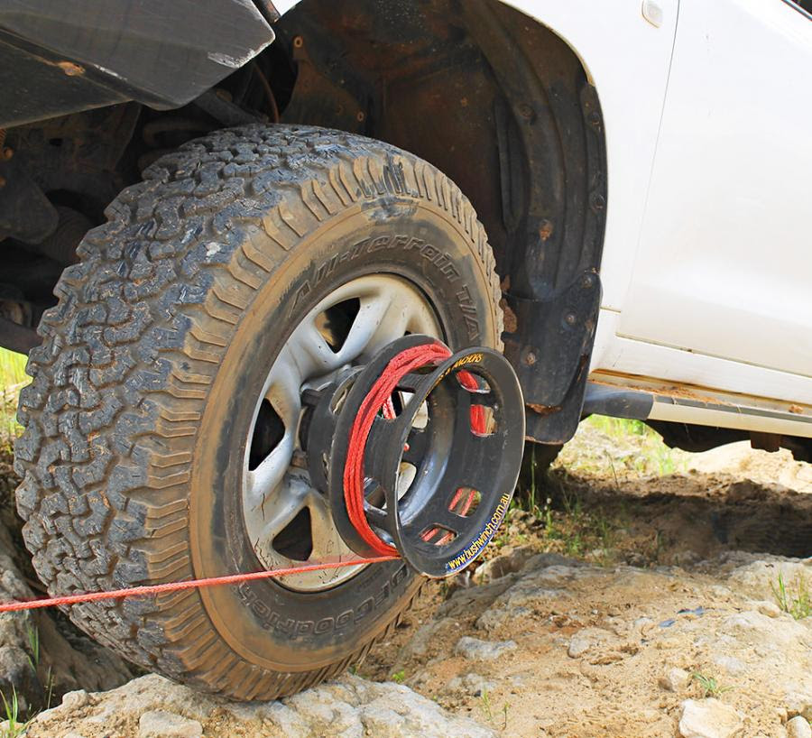 Bush Winch Winch That Attaches To Your Tire Gets You Unstuck