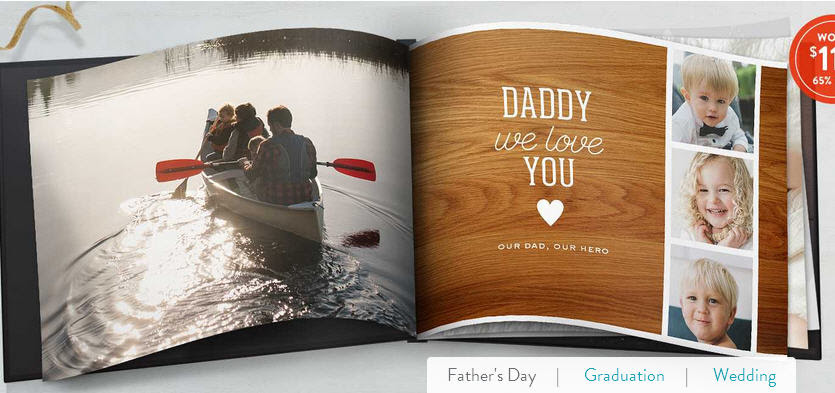 Custom 60th Birthday Photo Book for 60 year old father