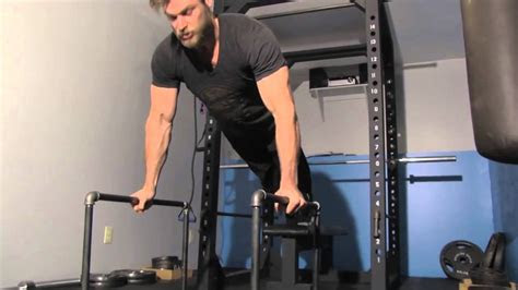 fitness  home  hd homemade parallettes   dips