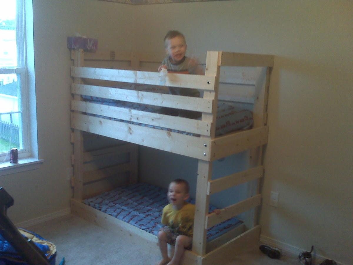 Ana White | Build a Crib size mattress toddler bunk beds | Free ...