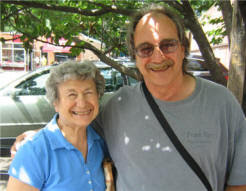 Albert Grande and his mother, Gloria Grande at Pepe's